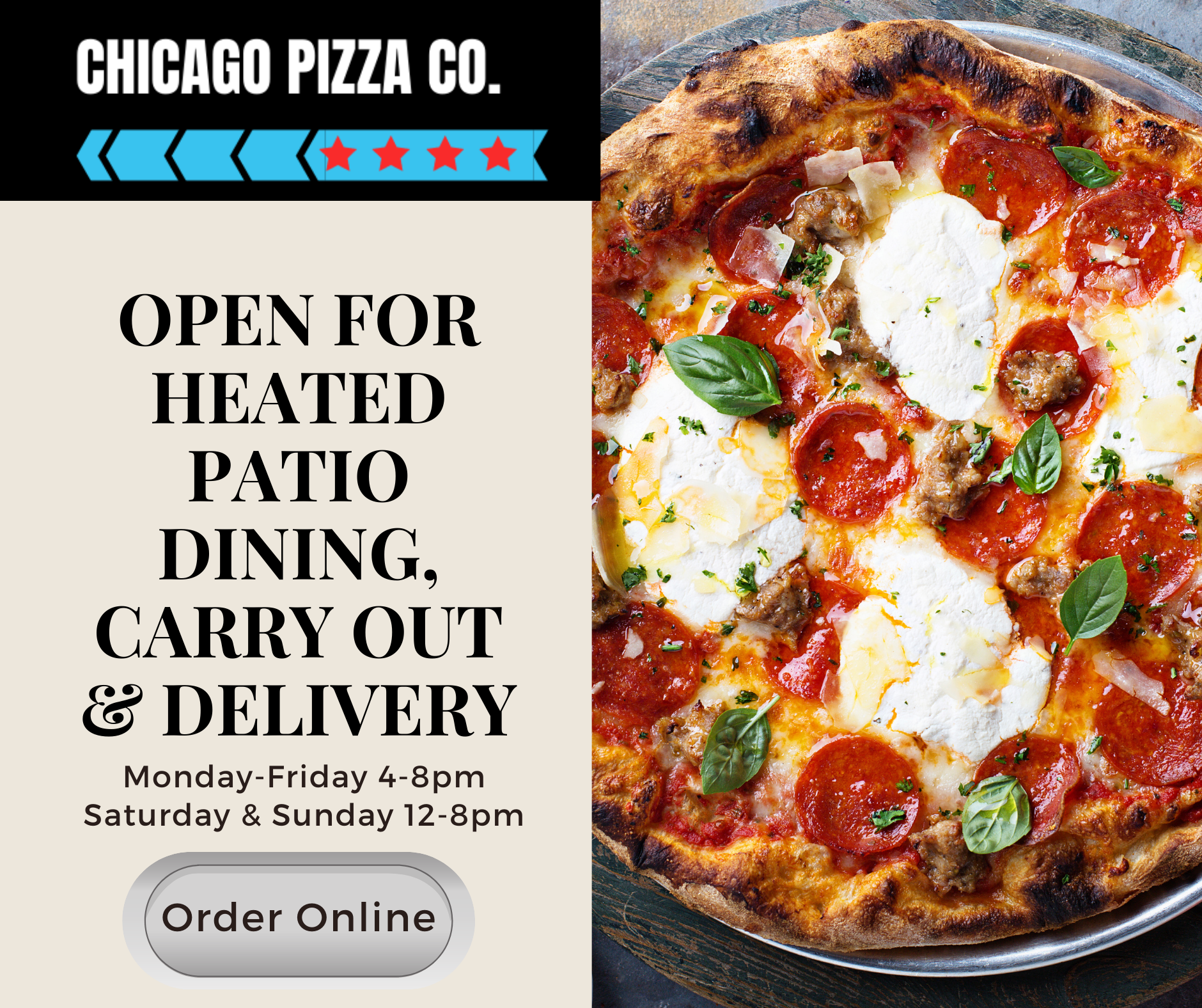 Chicago Pizza Co Order Online