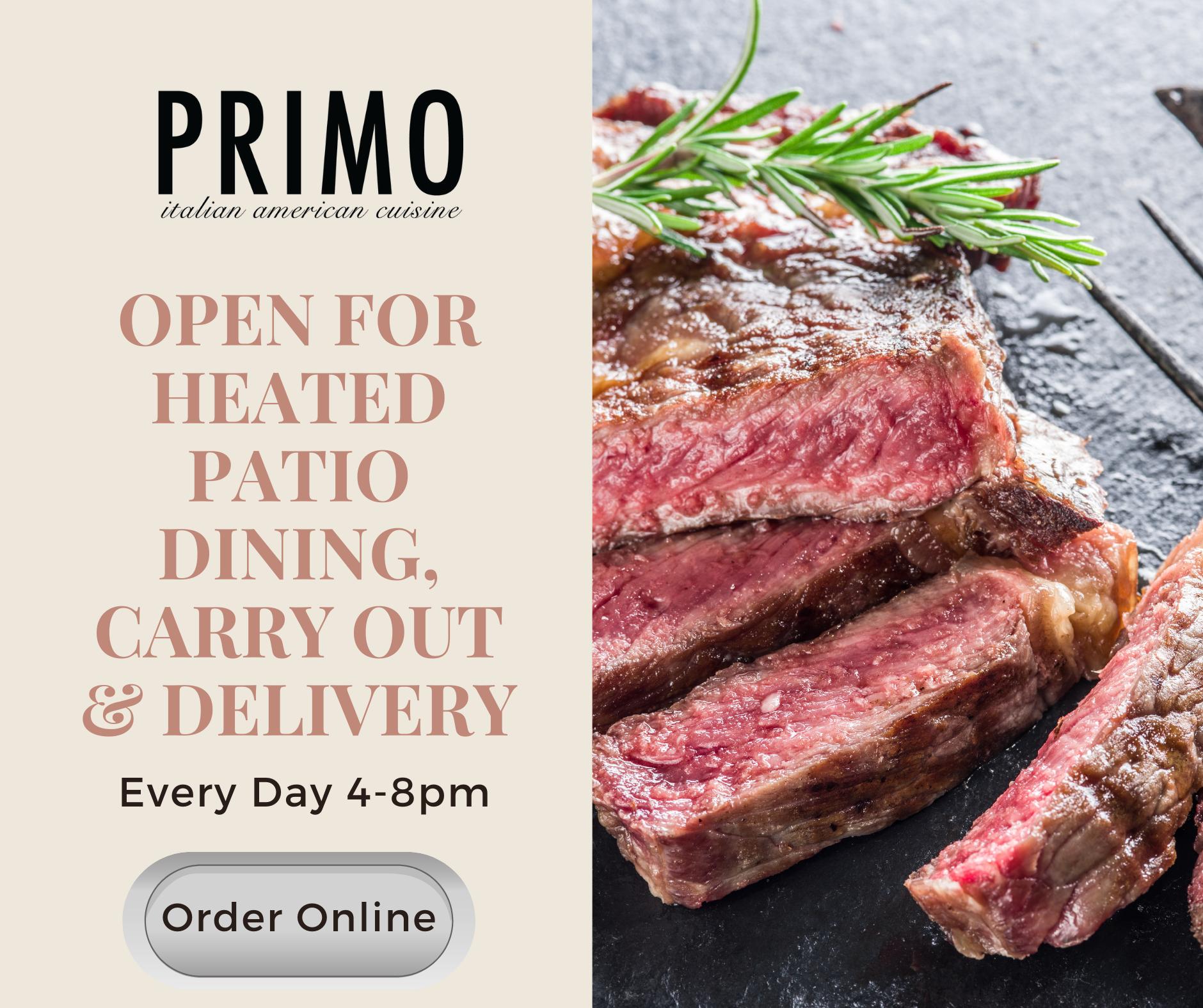 Primo Order Online